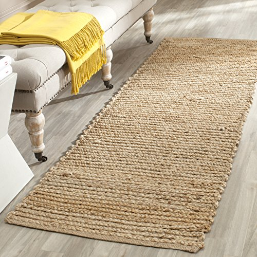 Safavieh Cape Cod Collection CAP355A Hand Woven Flatweave Natural Jute Runner (2'3