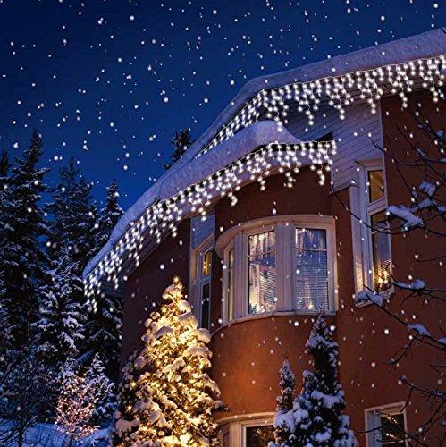 Christmas Led Lights.Sentik 240 Snowing Icicle Ultra Bright Led Lights White
