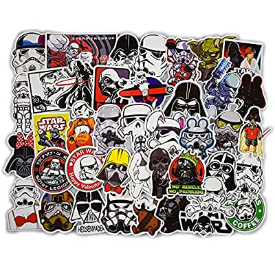 DOFE Car Stickers 50 pcs,Star Wars Stickers, Laptop Stickers,Motorcycle Bicycle Luggage Decal Graffiti Patches for Teens (Star Wars Stickers 50pcs)