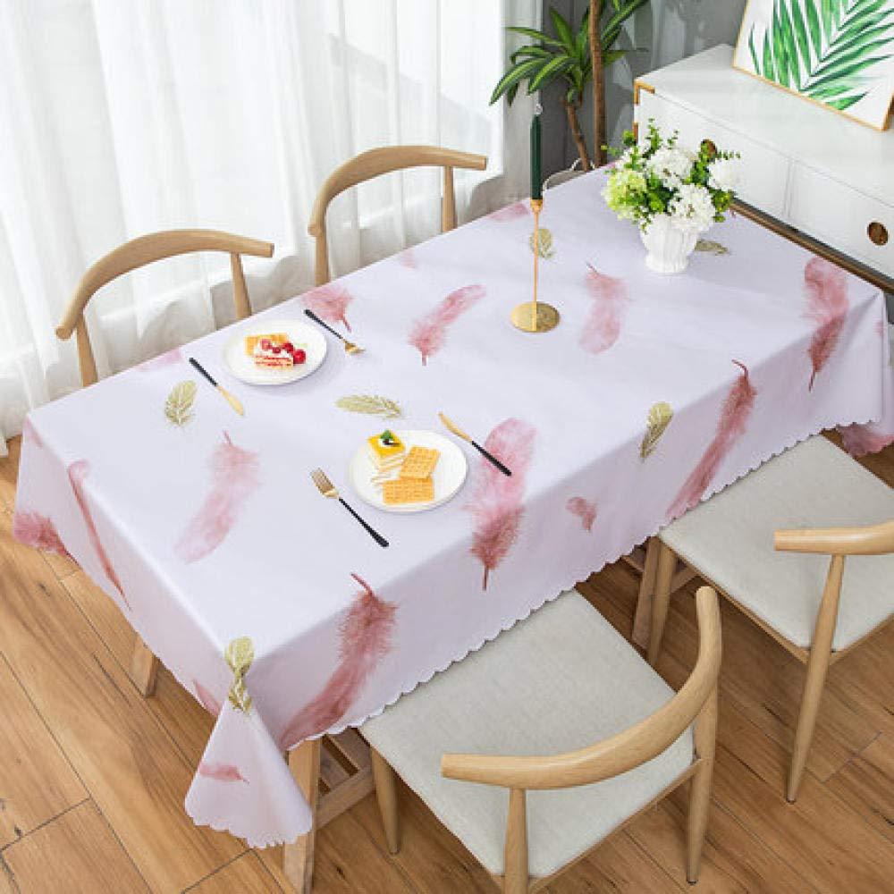 WJJYTX Plastic Table Covers Wipe clean,Square Wipe Clean Tablecloth Vinyl PVC Lemon-137 * 220_B