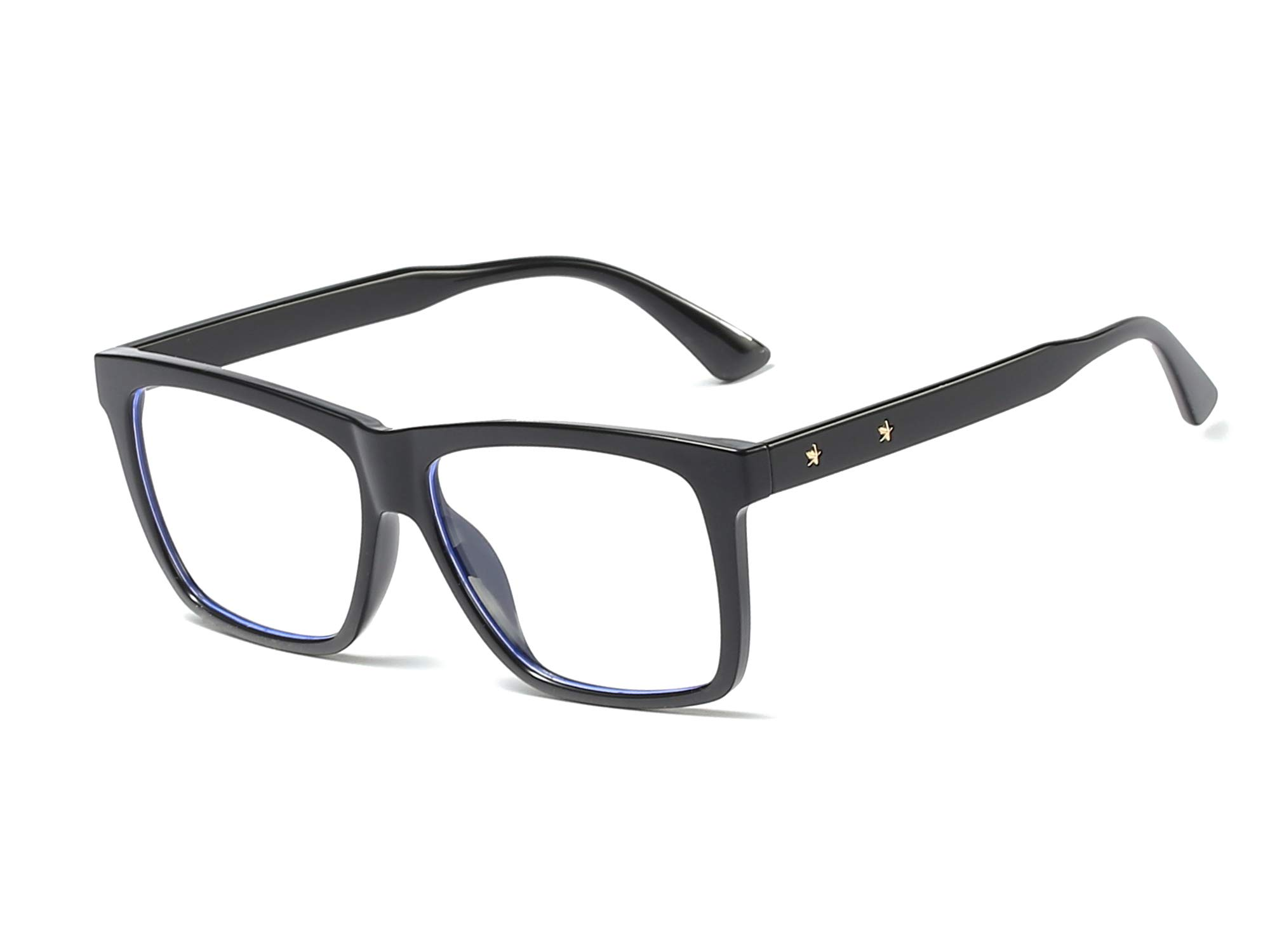 AZRRA-Unisex-Blue-Light-Blocking-Glasses-Square-Large-Eyewear-TR90-Lightweight-Computer-Game-Eyeglasses-Frame