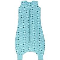 Slumbersac - Saco de dormir con diseño de estrellas para bebé, color verde azulado (para invierno, con pies, 0,5 tog…