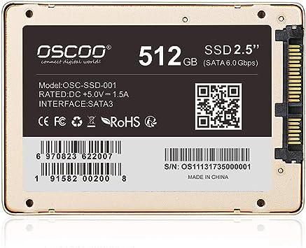 Docooler OSCOO Disco de Estado sólido SATA III 512GB 256GB ...