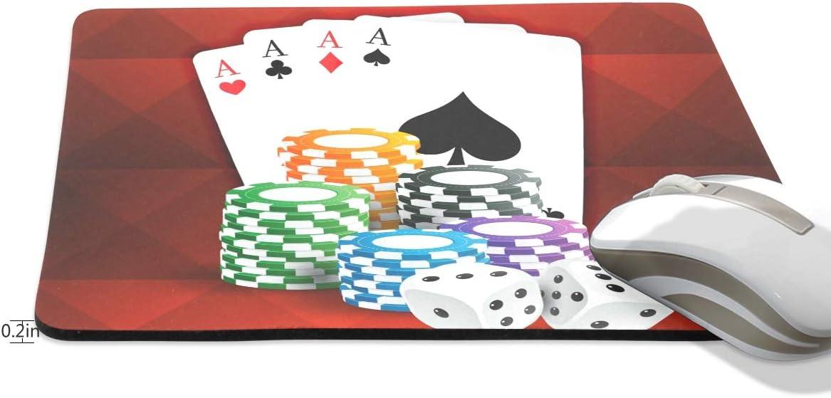 Juego de Cartas con Monedas de Casino y Dados Antideslizante de Goma Alfombrilla de ratón para Juegos y Control rápido y preciso para Juegos y Oficina: Amazon.es: Electrónica