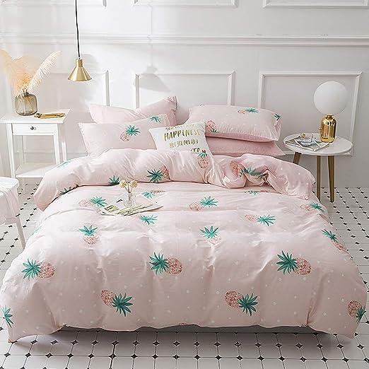 Amazon.com: Pink Pineapple Twin Bedding Sets Cotton Girls Duvet