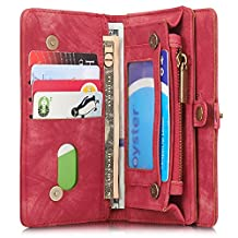 leather wallet iphone case magnetic detachable protect iphone 6/6s/6plus/7/7plus