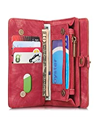 INFLATION iPhone Leather Wallet Case Flip Cover Magnetic Detachable Case