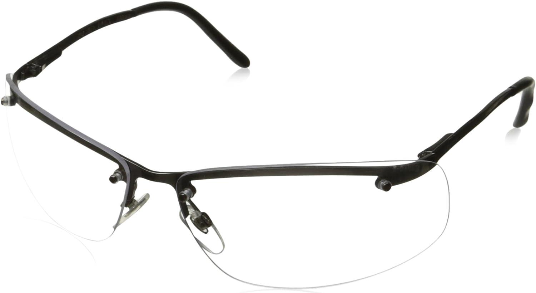 Uvex S4110 Slate Safety Eyewear, Matte Gunmetal Frame, Clear Hardcoat Lens