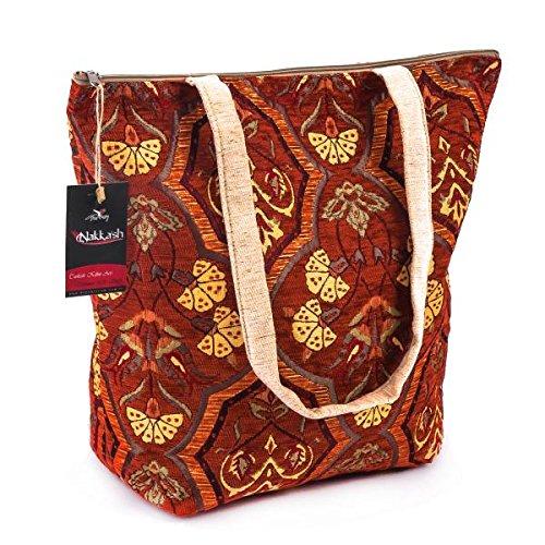 Handmade Turkish Kilim Women Tote Bag
