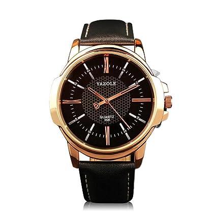 YAZOLE 358 reloj de lujo de gran tamaño reloj de los hombres de negocios informal reloj