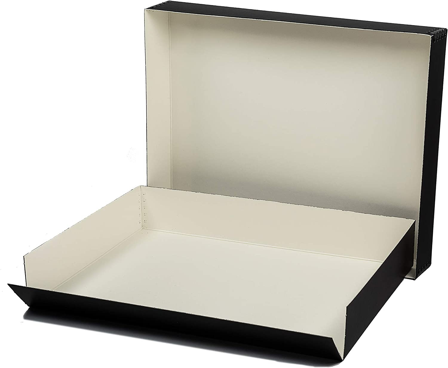 Lineco Blue//Gray 8.5x11 Museum Storage Box with Removable Lid and Drop Front 8.5 x 11 x 3 Protects Longevity Store Photos Prints Cards Magazines DIY. Archival Documents