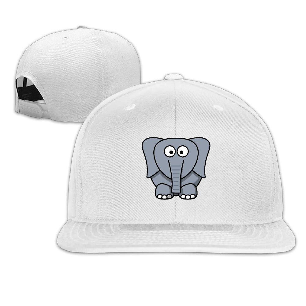 Thirdoone Unisex Fatty Elephant Flat Bill Baseball Cap Fashion Snapbacks Hat
