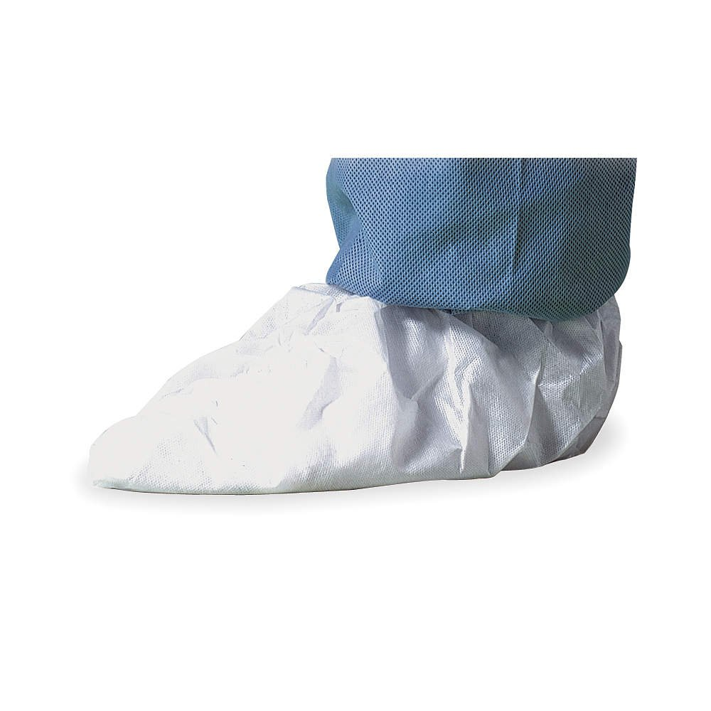 Pack of 100 DuPont Tyvek IsoClean IC451S Shoe Cover Medium IC451SWHMD01000B White