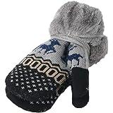 Tronet Clearance!!2-8 Years Toddler Kids Baby Boy Girl Warm Christmas Deer Full Finger Windbreak Knit Gloves Xmas Gift