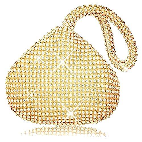 pour Pochette Evening femme Doré Bag HT 8qfaxwtwP