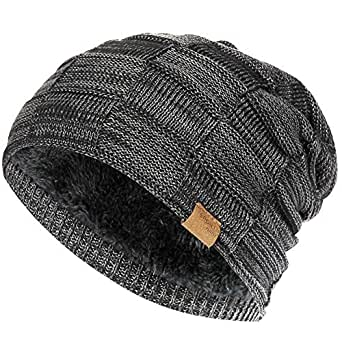e7e02c7af0ff50 Slouchy Beanie for Men Winter Hats for Guys Cool Beanies Mens Lined ...