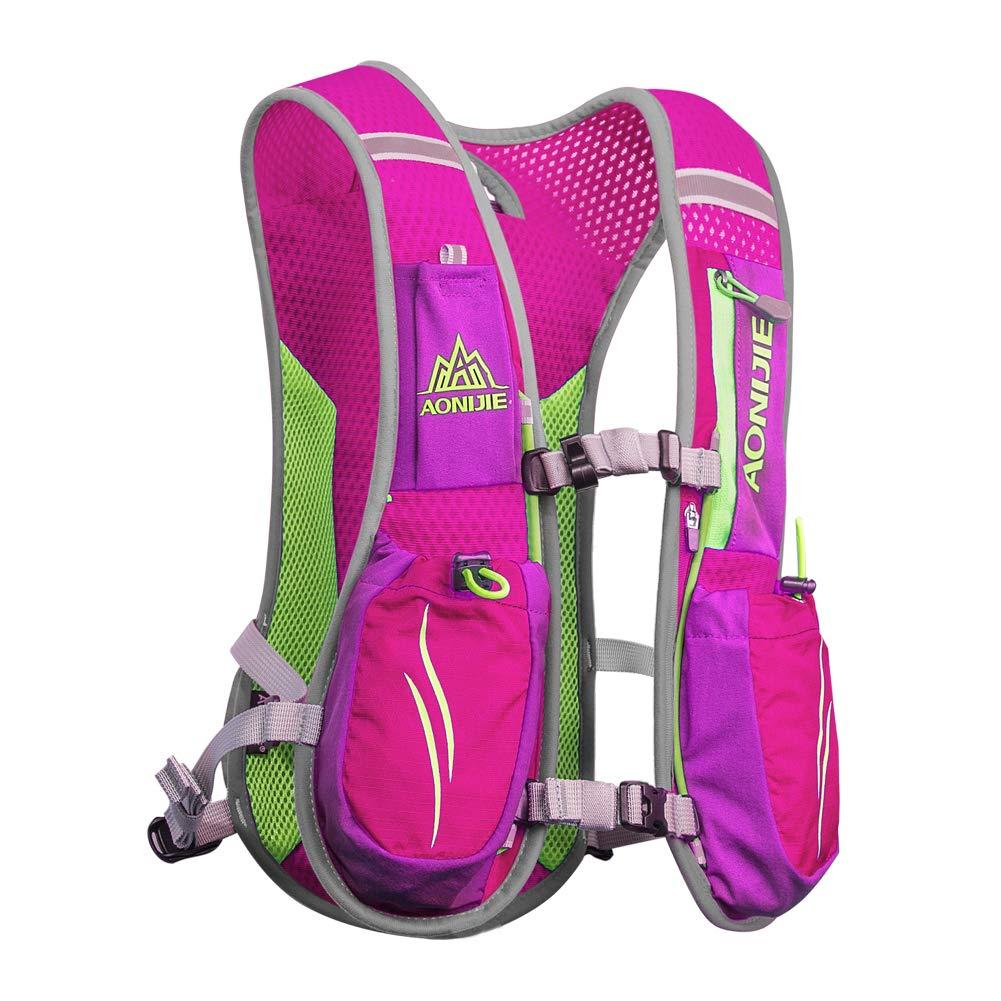 AONIJIE Marathon Hydration Vests for Running Camel Pack Running Vest Backpack Hydration Pack for Women and Men Lightweight Camel Backpack 5.5L(Pink) by AONIJIE (Image #1)