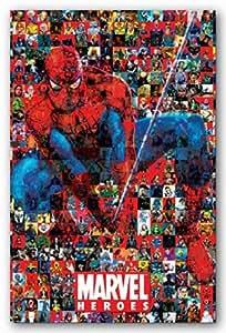 Amazon Com Marvel Heroes Spider Man Collage Movie