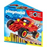 Playmobil - 4184 - Pilote + Voiture Transformable - Rouge