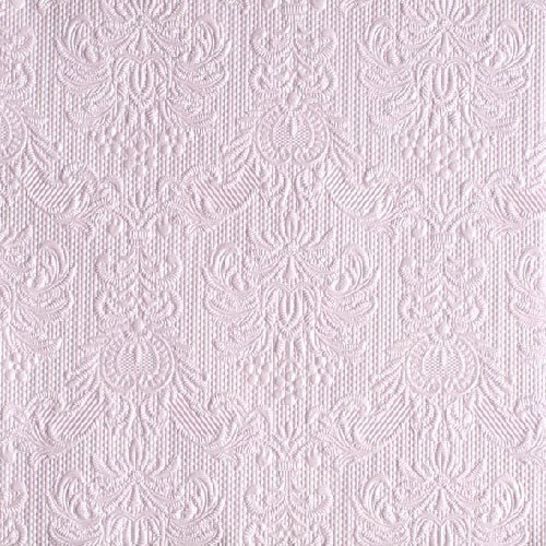 30 Luncheon Napkins 'Elegance Pearl Lilac' Embossed 13x13