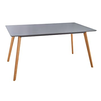 Retro Esstisch SCANDINAVIA MEISTERSTÜCK 160cm Grau Echt Eiche Esszimmer  Tisch