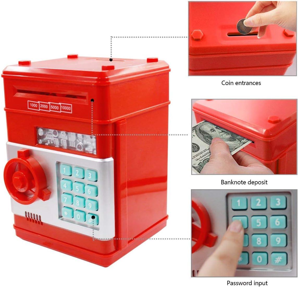 Netspower Money Box, Hucha Digital para niños, Mini cajero automático ATM - 19.3 * 13.5 * 12.5cm: Amazon.es: Juguetes y juegos
