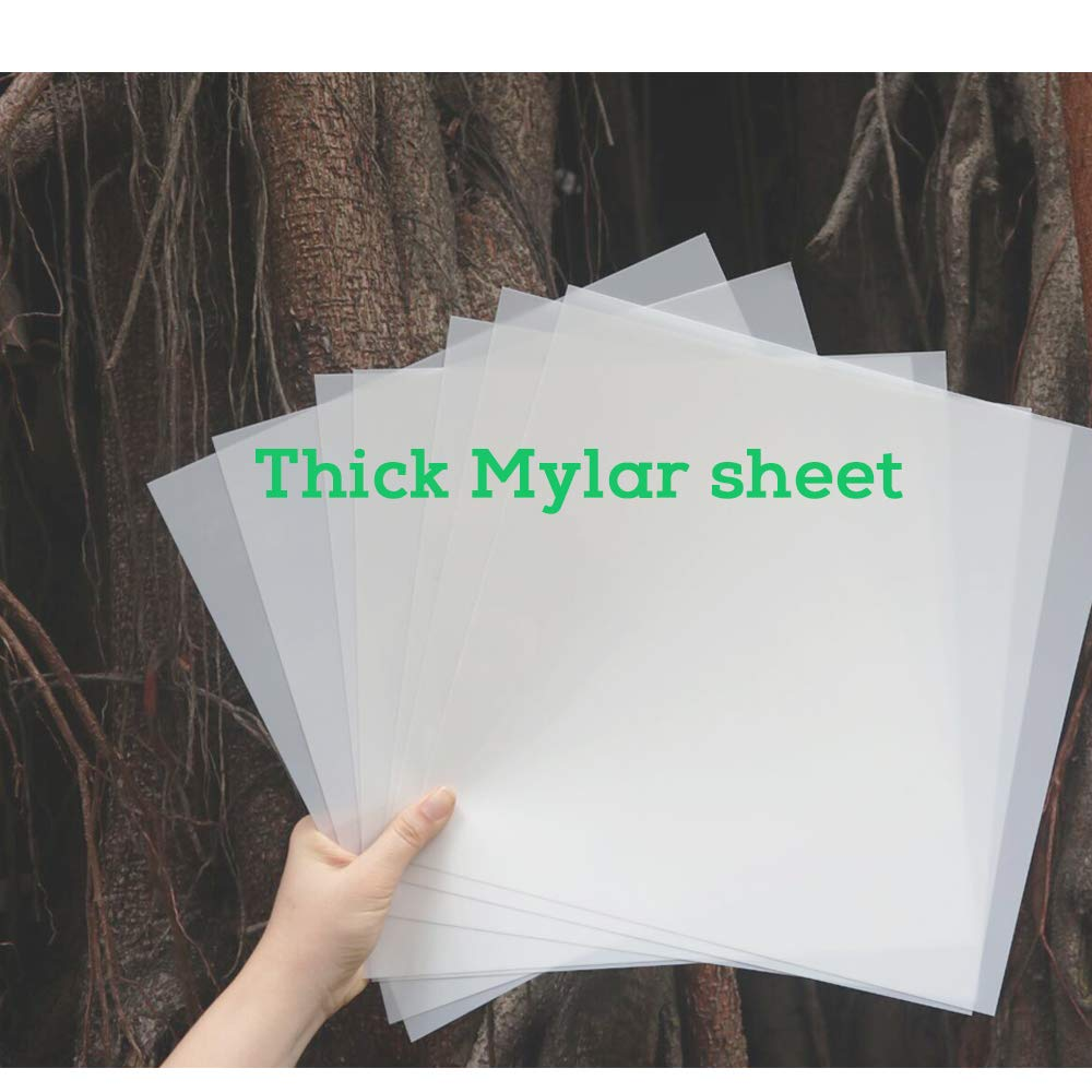 .014 Thick Polyester Sheet 6x10 5-PACK Heavy Duty 14mil Mylar Stencil Sheets