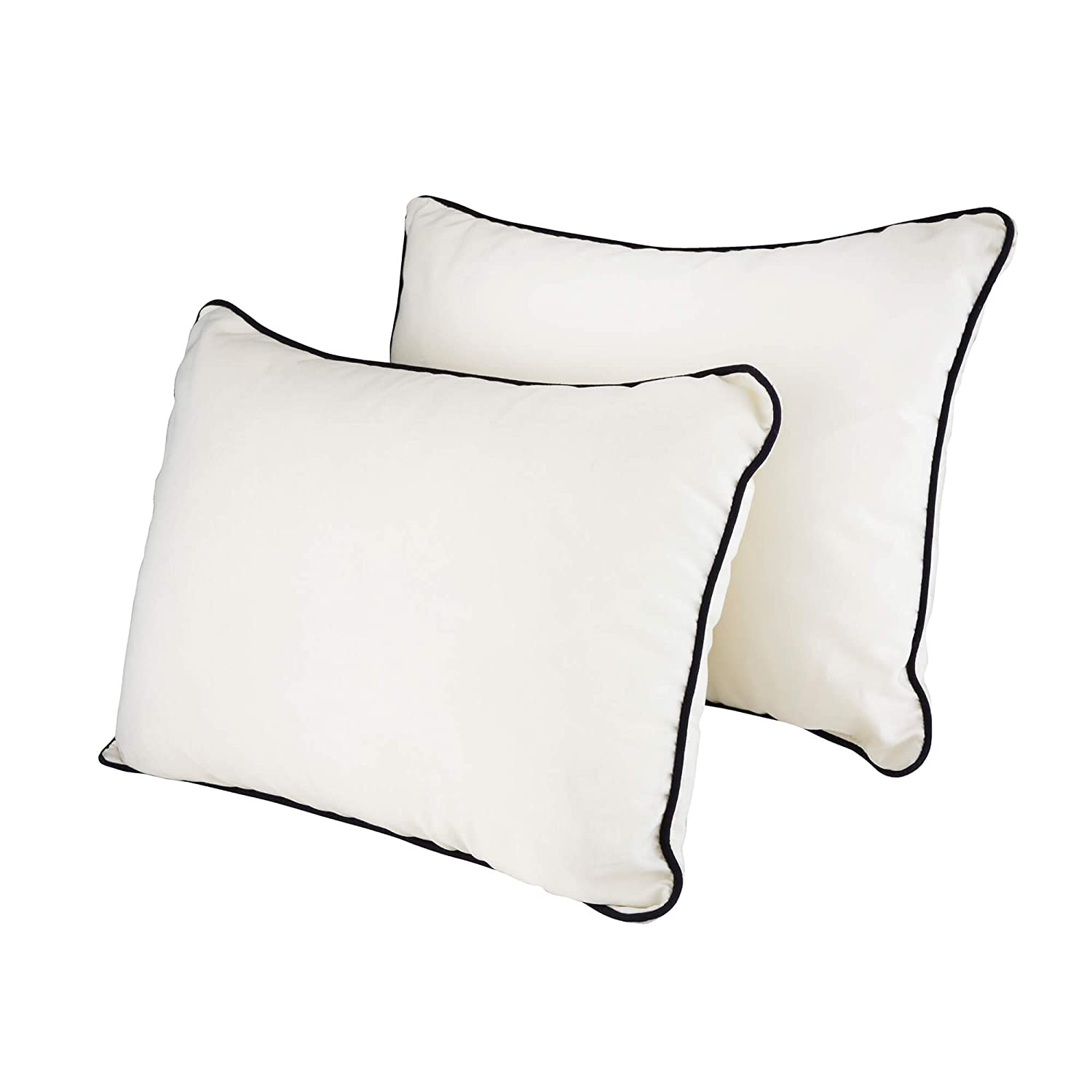 Water Resistant Navy Blue Alfresia 2 Pack Garden Scatter Cushions
