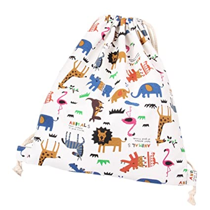 LAAT Bolsa y Mochila de Tela de algodón Unisex para niños o Adolescentes, diseño con