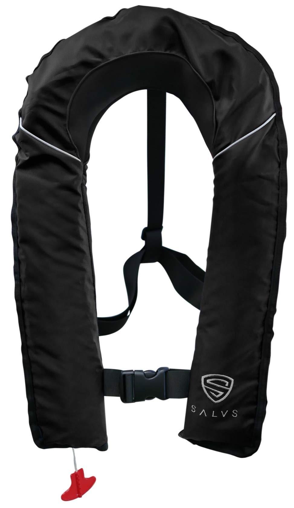 Life Vest for Men /& Women Floatation Swim Vest Fishing PFD for Kayak SALVS Automatic//Manual Inflatable Life Jacket for Adults Sailing