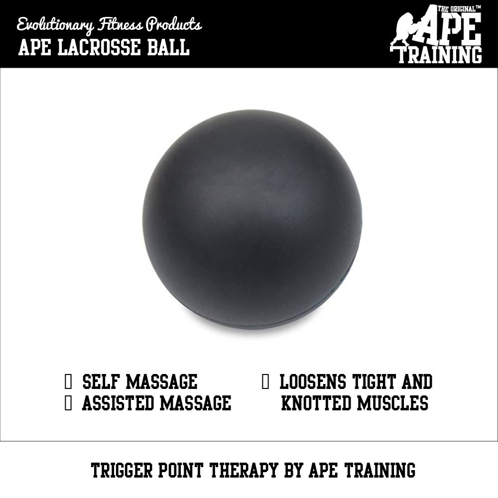 Ape Training Lacrosse Massage Ball For Trigger Point Massage | Myofascial Release | Physiotheray