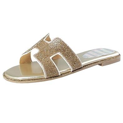 JOJONUNU Damen Mode-Event Flach Sommer Sandalen