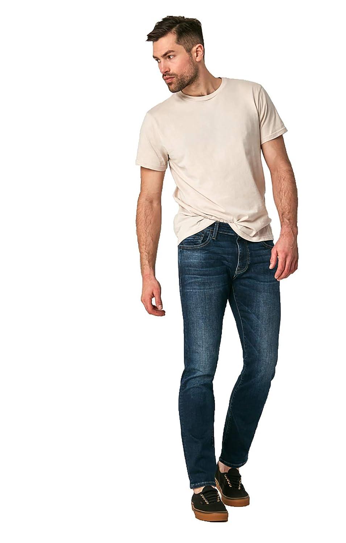 Deep Blue Cashmere, 33W x 30L Mavi Mens Matt Relaxed Straight Leg Jeans