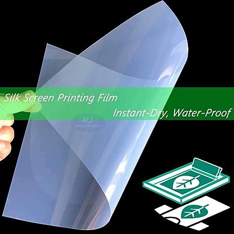 "WATERPROOF Inkjet Transparency Film for Screen Printing 8.5/""x11/"" 50 SHEETS"