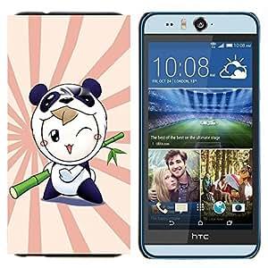 TECHCASE---Cubierta de la caja de protección para la piel dura ** HTC Desire Eye ( M910x ) ** --Naturaleza Árbol rosado