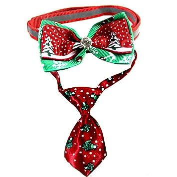Conjunto de corbata y bowknot de Navidad para perros, patrones de ...