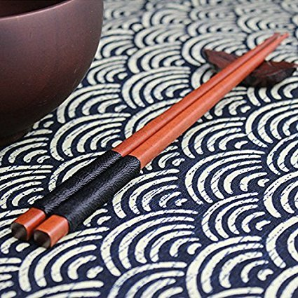 Black Elegant 1 Pairs Japanese Natural Iron Wood Chopsticks Value Pack Theaceae