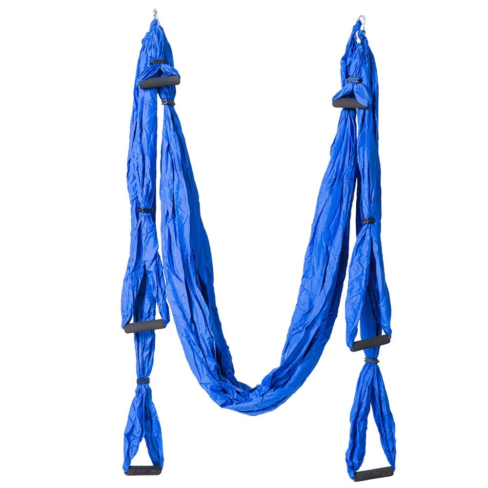Jx Aerial Yoga Hammock 6 Handle Yoga Inverted Fitness Hammock Without Stretching Yoga Hammock, Antigravity Swing Hammock (Color : Royal Blue) by Jx
