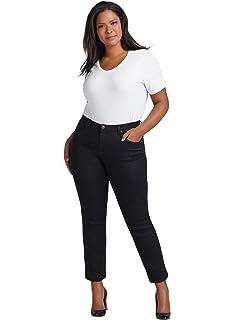 4e32556c7b3c86 Zizzi Emily Damen Slim Fit Jean Curvy Hip Stretch Hose, Große Größen 42-56