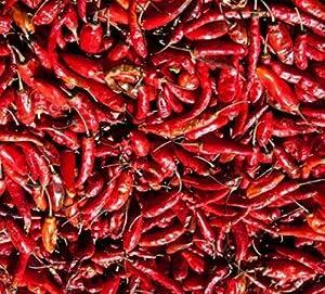 Extra scharfe rote Chilis, ganz, 50g getrocknete Chili