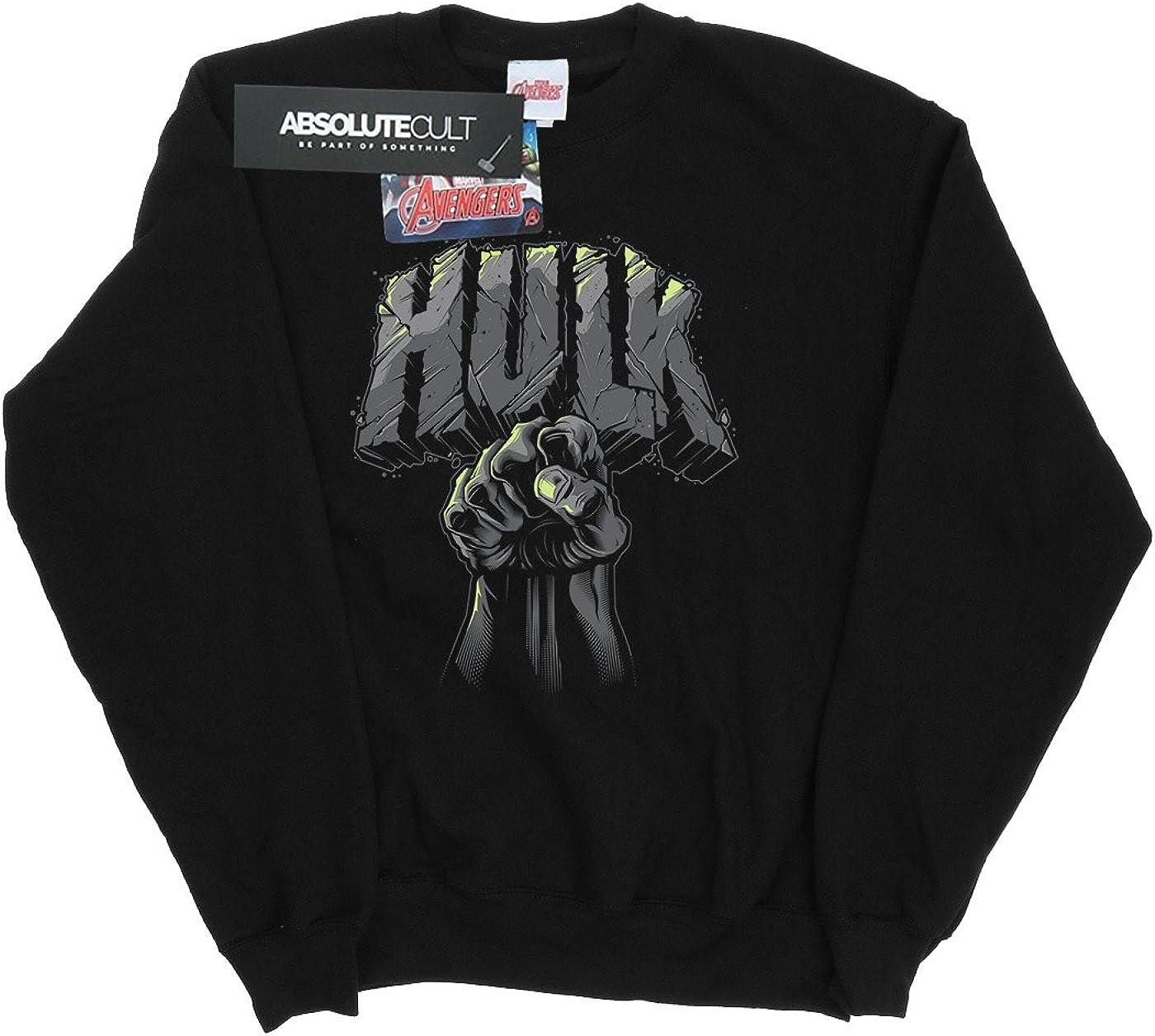 Marvel Damen Hulk Punch Logo Sweatshirt Schwarz