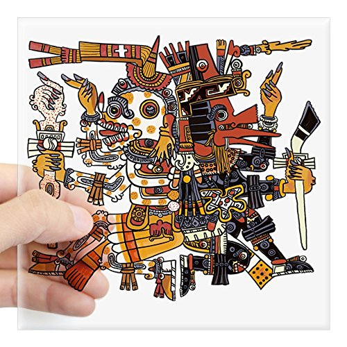 CafePress Aztec God of Life and Death Square Sticker 3