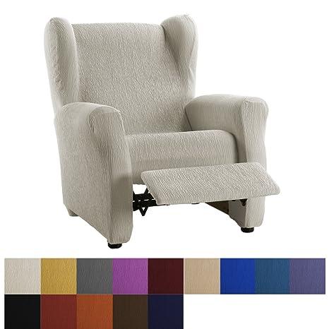 Funda de Sillón Relax Elástica Modelo Dallas, Color Negro, Medida 70-90cm respaldo