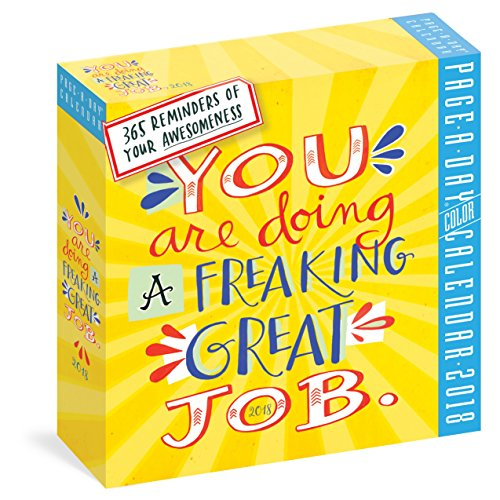 You Are Doing a Freaking Great Job Page-A-Day Calendar 2018 cover