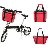 Lixada Bicicleta Cesta Desmontable Ciclismo Bicicleta Barra Delantera Portadora Pet Bastidor de Aleación de Aluminio Marco