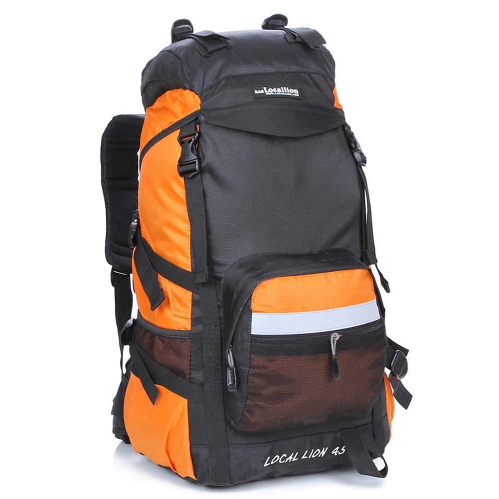 346383c8eb Backpack 45L Nylon Adulto Borsa da da da Alpinismo all'aperto Multifunzione  Viaggio Zaino per Il Campeggio Caccia Trekking,arancia 8826f1