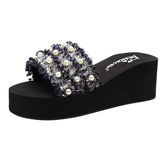 6c01eef0811a Amazon.com   Minikoad  Women Wedge Slippers Sandals