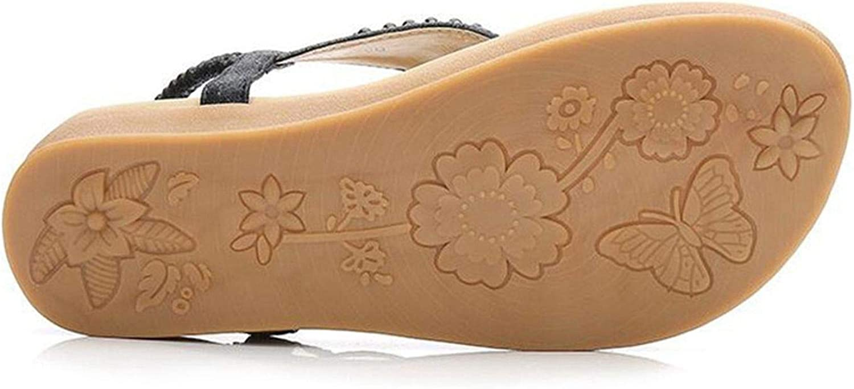 better-caress Womens Beach Sandals Women Shoes Bands Flat Shoes Pearl Platform GiatorSandalias