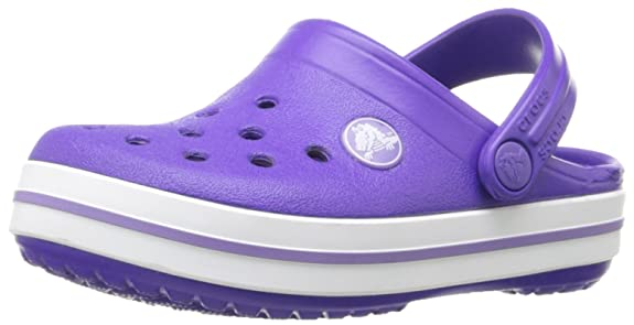 crocs Crocband Kids Clog (Toddler/Little Kid), Ultraviolet/White, 10/11 M US Little Kid
