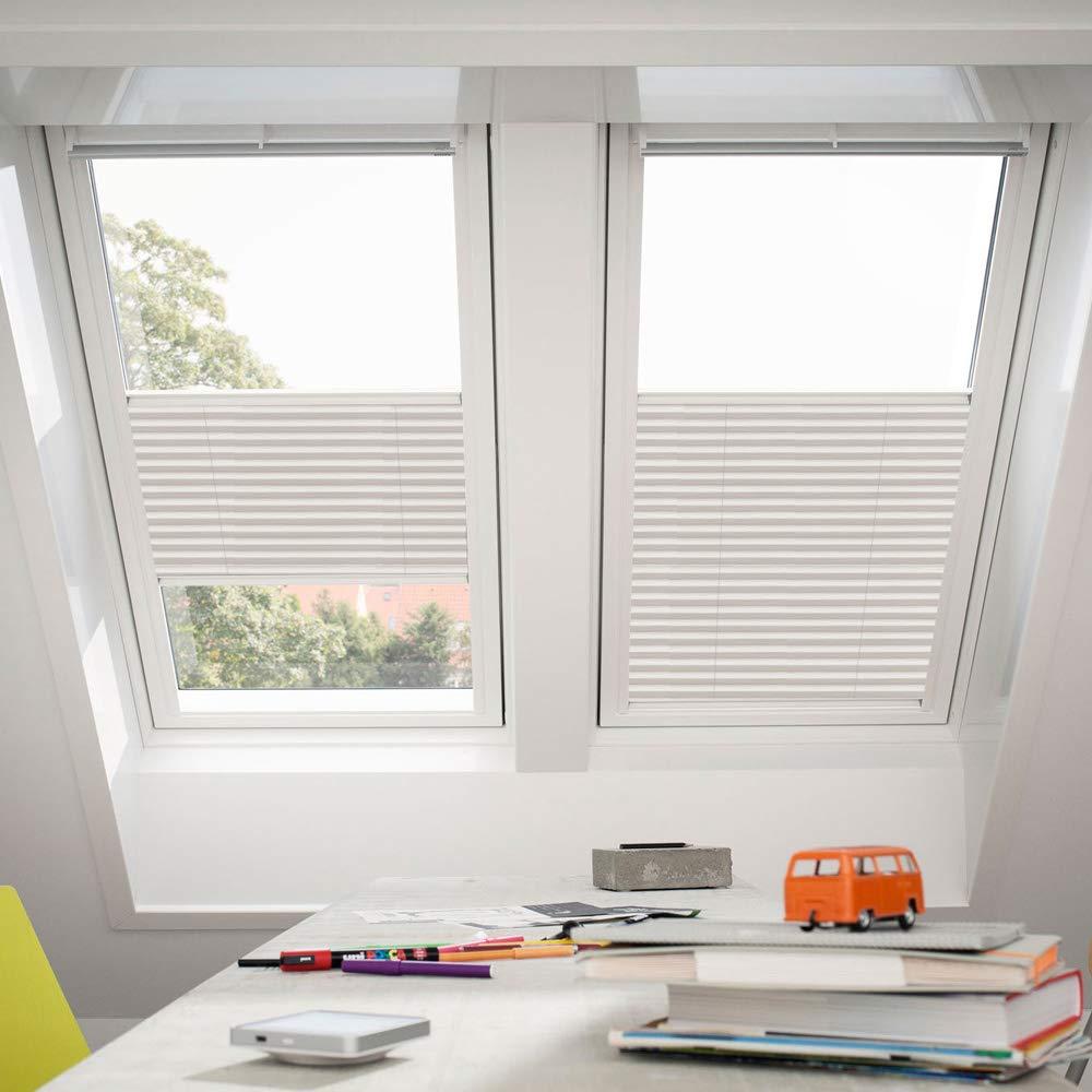 Orignal VELUX Plissee   Faltstore FHL MK08 1257S   Bedienart   Manuell   Farbe   Dekor Wellig Weiß   Fenstergröße   MK08   Fenstertypen   GGU, GGL, GPU, GPL, GTU, GTL, GXU, GXL _16591